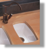 Fireclay Drop-In / Undermount Sink Small