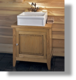 Wooden Cabinet & Petite Luberon Fireclay Sink