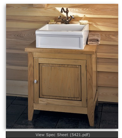 Wooden Cabinet Amp Petite Luberon Fireclay Sink